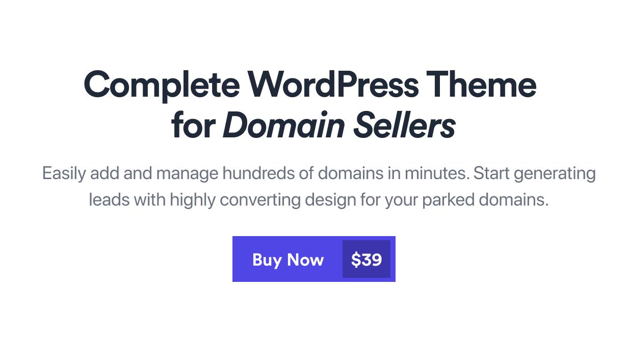 Nami | Complete Domain Sale Theme for WordPress - 2