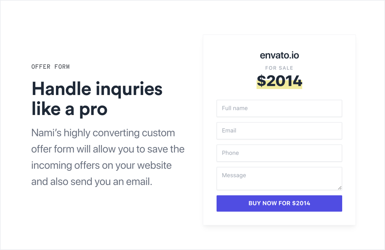 Nami | Complete Domain Sale Theme for WordPress - 5