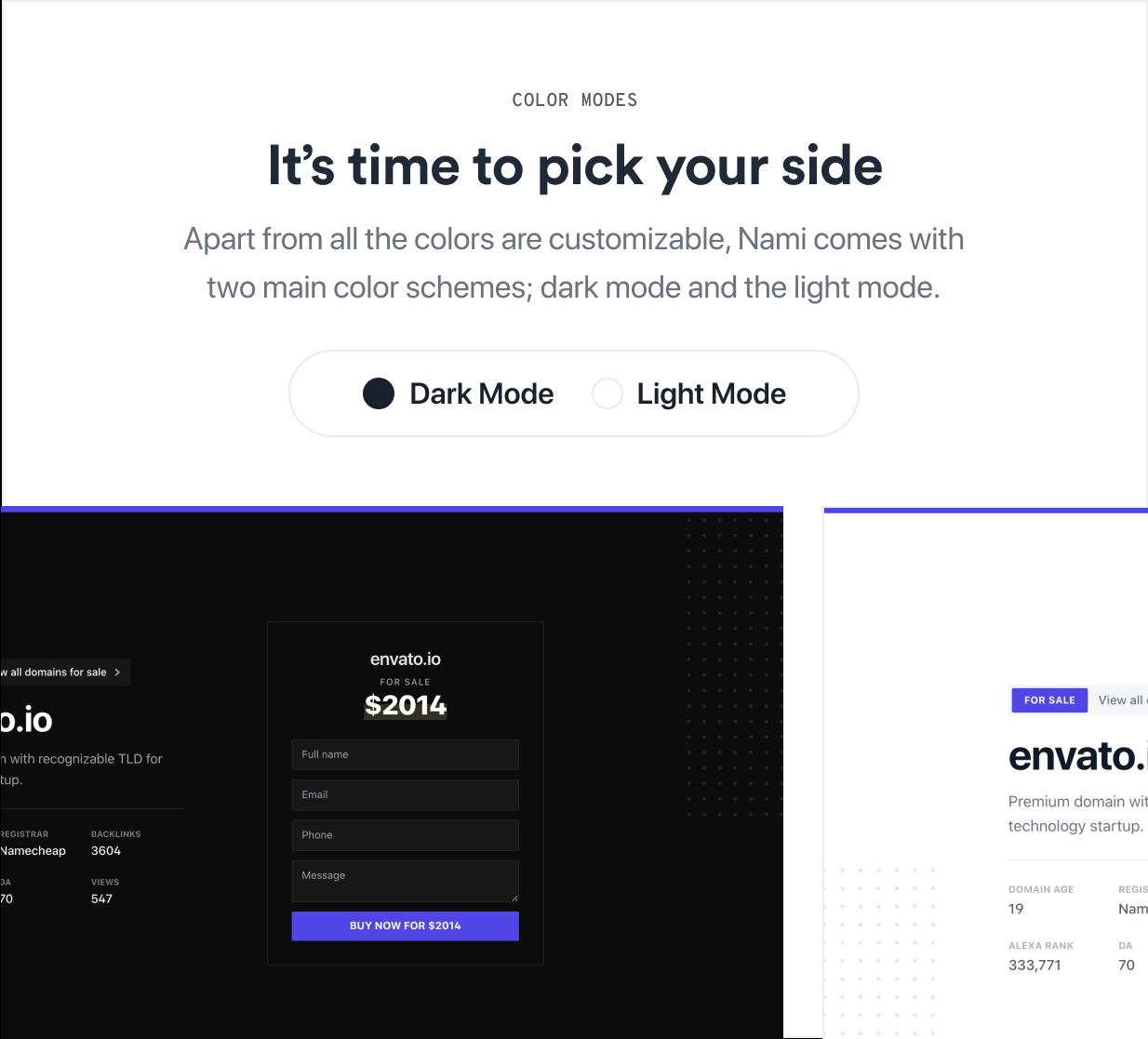 Nami | Complete Domain Sale Theme for WordPress - 6